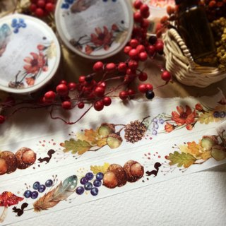 Rabbitoffee Masking Tape (No.5 - Autumn Acorn)