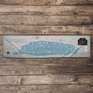 Make World Map Manufacturing Taiwan Island Sports Towel (Blue Grey)