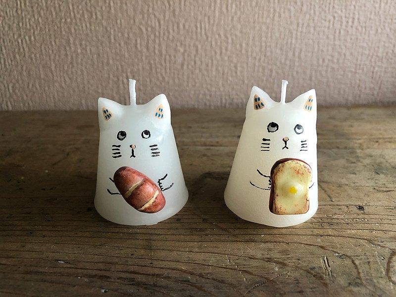 麵包和白貓