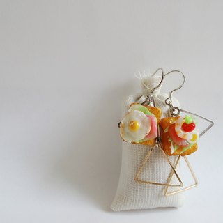 Japanese Clay Earring Dorla and Ling hanging Earring