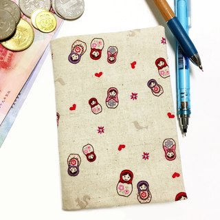 Russian cloth doll passport holder passport holder