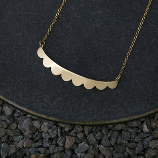 Misstache N.8 Miss Beard 8 Brass Necklace