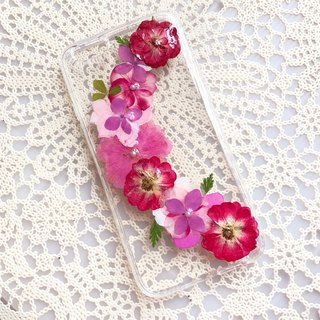 iPhone 7 Dry Pressed Flowers Case Red Flower case 011