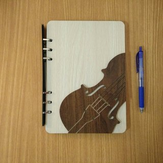 Taiwan stack [customization - color and pattern can be replaced] A5 two loose-leaf 6-hole notebook - three-dimensional violin notebook / album / stationery / folders / gifts / gifts