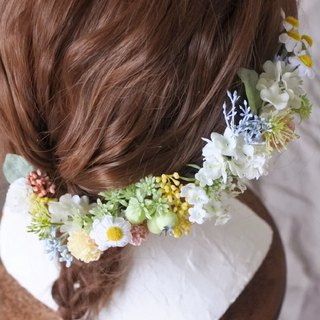 Small pastel garden head dress