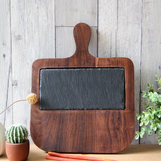 British Selbrae House Indian oil wood single hand slate mixed with cutting board / board / display board