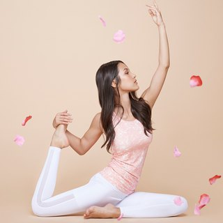 [MACACA] Starry Night Yoga Blouse - AQA1233 Pink