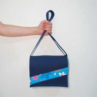 Hakka Tonghua Handmade School Bag - Blue Blue