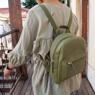 Be Two ∣ Round zipper backpack / travel / leather portable / top layer leather bag / backpack