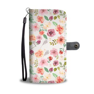 Rose Flower Wallet Phone Case