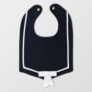 Navy sailor bib with bow tie