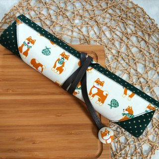 Cute Shiba Inu Japan imported cotton ~ environmental protection cutlery set / cutlery bag (4 format)