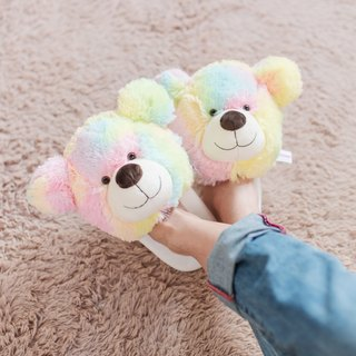 CANDY BEAR cotton candy bear slippers