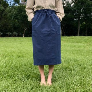 Dark blue cotton skirt / day by day