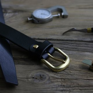 <CANCER流行實驗所> - Handmade belt / 35mm / suitable for men and women / Father&#39;s Day gift / black / brass