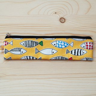 Color fish zipper bag chopsticks group _ yellow