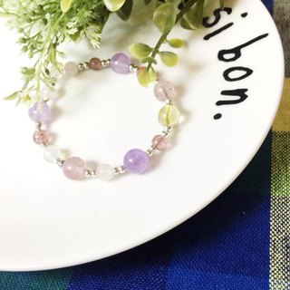 MH sterling silver natural stone love series_cupid_Strawberry Crystal_Amethyst
