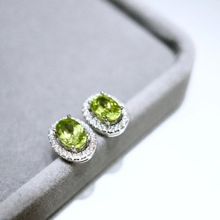 ITS-E005 [Gemstone Earrings Series - Peridot] 925 Silver / Peridot / Earrings