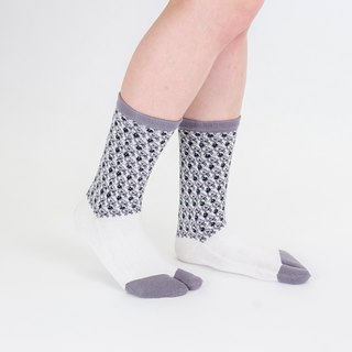 lintu pattern toe socks
