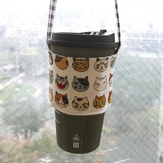 Wen Qingfeng environmental protection bag ~ Super love cat hand-sided environmentally friendly beverage bag suction hand cup of coffee bag exchange gifts