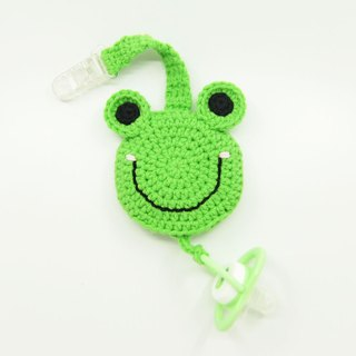 Pacifier chain clip + pacifier storage bag / frog