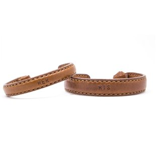 Leather Bangle / Couple Bangle / Brown / Leather / Accessories / Bracelet