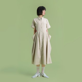 Tan-tan / camel drape dress