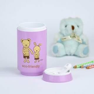 PLAStudio-ECO CAN-280ml-Rabbit & Bear-Made from Plant-Limited