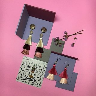 earrings: 3rd tassel