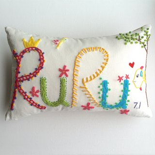 name pillow creative gift - an original design handmade wool embroidered pillow custom -4 letter