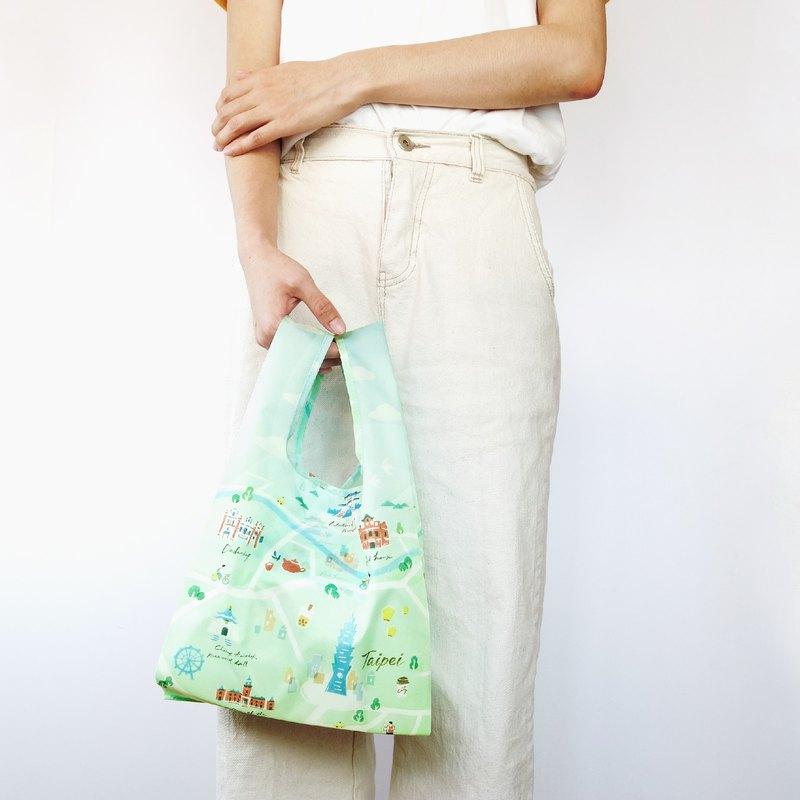 【袋走-環保購物袋】台北輕旅行-可折疊收納