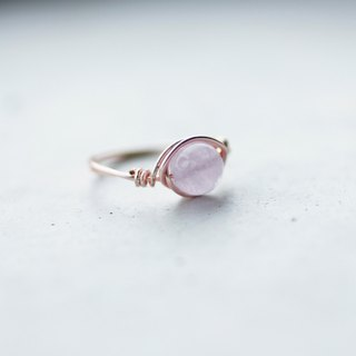 6mm lavender amethyst rose gold copper wire ring