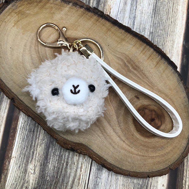 Alpaca-knitted woolen animal key ring charm wrist strap charm