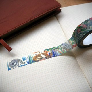 CHUMIO X Duo Duo | illustrator series paper tape _ Animal Park (Sun papers)