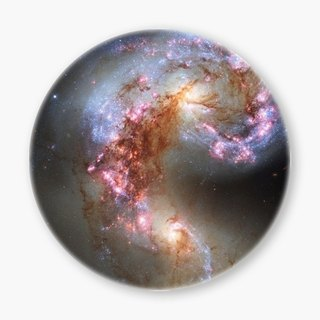Snupped Ceramic Coaster - The Galaxy - The Antennae Galaxies