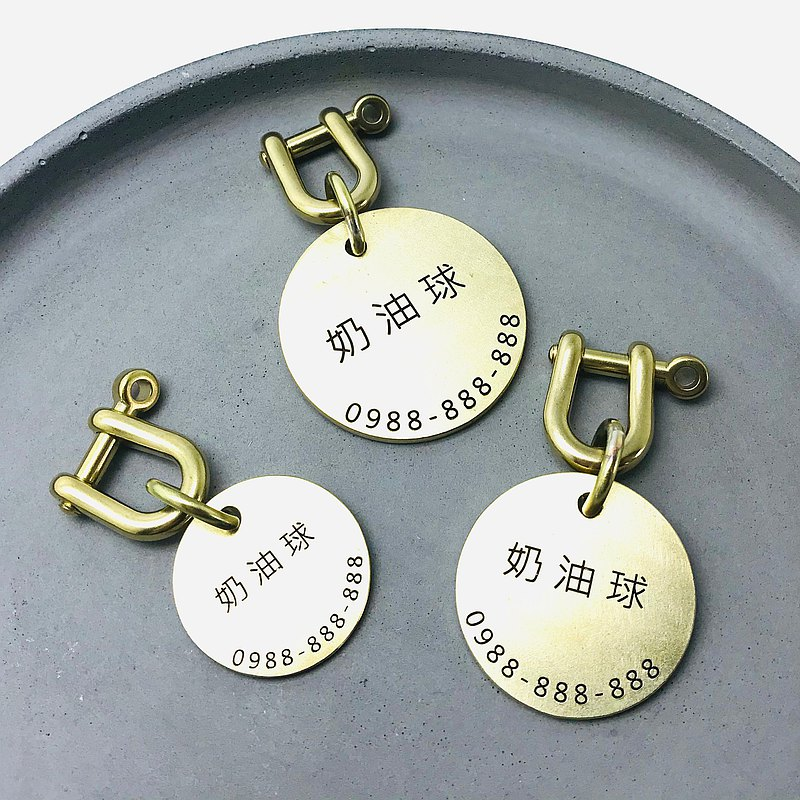 Brass laser engraving pet tag [NPB01001] cat. dog tag. pet. key ring. collar. tag