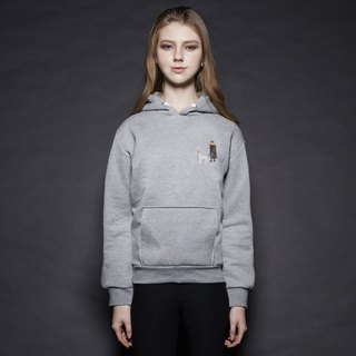 British Fashion Brand [Baker Street] Little Stamp:Walking the Alpaca Printed Hoodie