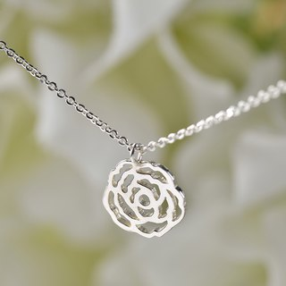 Florid Series - Rose 925 silver necklace