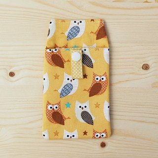 Sparkling owl pocket pencil case / accessory bag