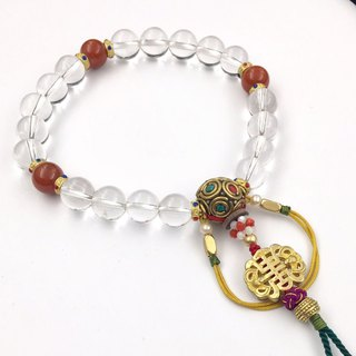 Natural white crystal 18 bracelets (Fucha queen)