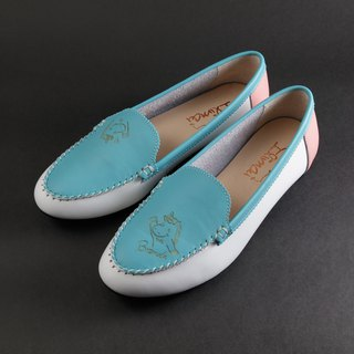 ILIMAI Brenda Simple Loafers - Mani Blue