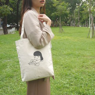 Aida&绮绮 limited edition merchandise | do not eat dinner canvas bag