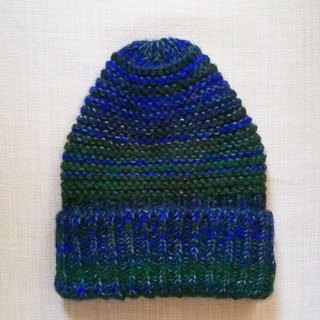Lan Mao hat wool (mohair yarn blue and green)