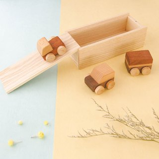 Gift box group small car (three sets) - natural safety toys are not on chemical paint