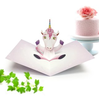 Unicorn Card | Unicorn Birthday Card | Unicorn Pop Up Card | Pop Up Card