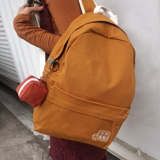 【Texture couture】 plain canvas backpack + purse = 1000 yuan