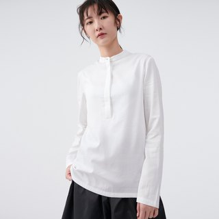 TRAN - round neck simple shirt