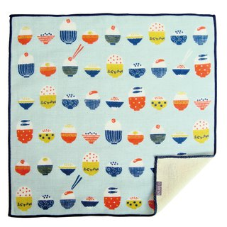 【IMA】WAFUKA  Japan made Soft, Cute & Unique Handkerchief - Rice