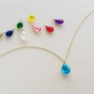 colour dew simple necklace