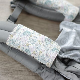 "Ergo Reversible Teething/Drool/Sucking Pads, Baby Carrier Strap Covers, Organic Double Gauze, LIBERTY Fabric ""Felicite""<2084>"